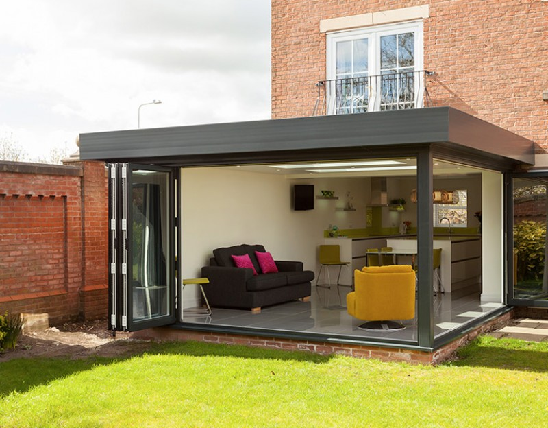 Stunning contemporary orangery extension by Croft conservatories, Preston
